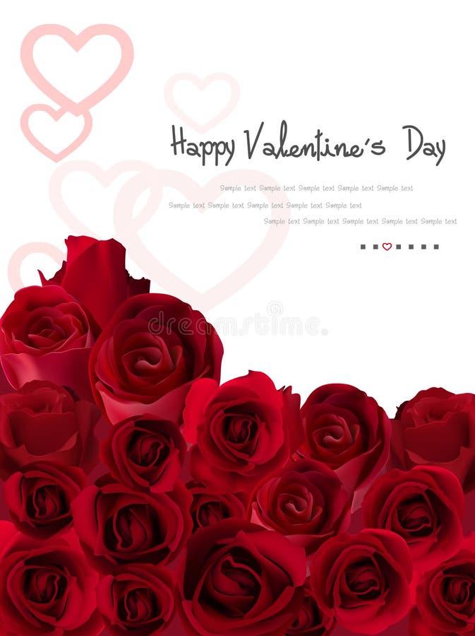 Dirigez insecte d'abrégé sur rose de jour du ` s de Valentine de carte le bel image libre de droits