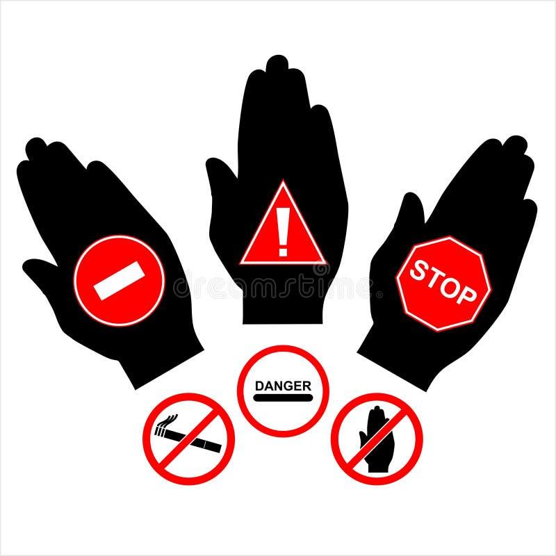 Dirigez interdire des signes photographie stock
