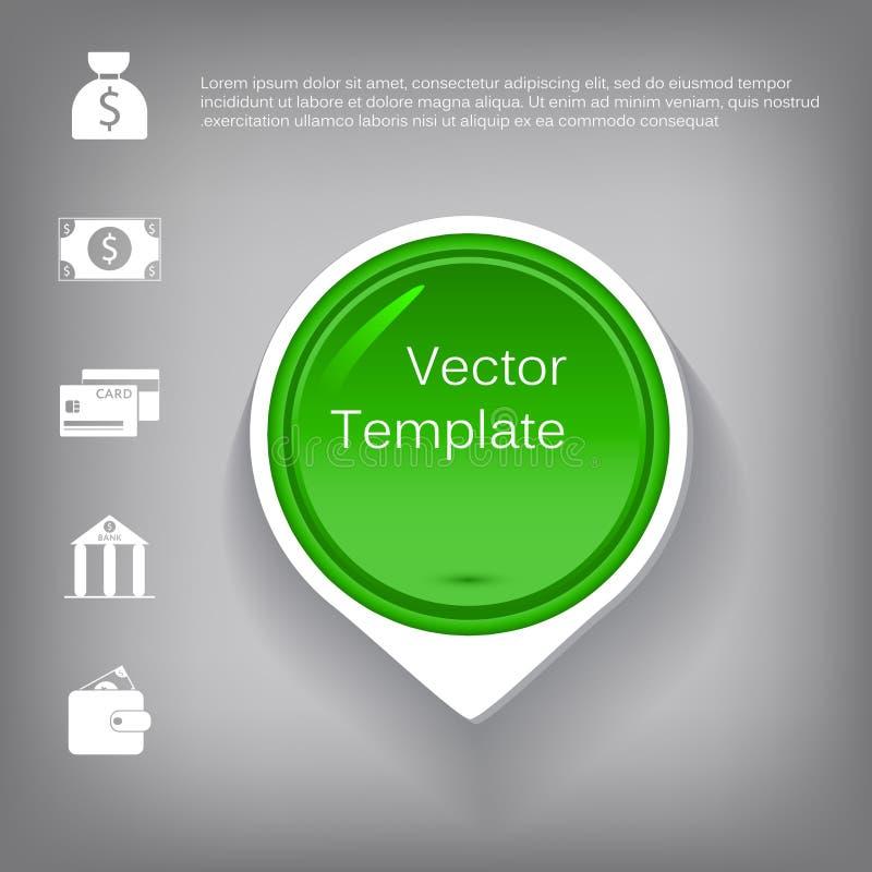 Dirigez l'élément brillant en plastique du cercle 3d pour infographic illustration de vecteur