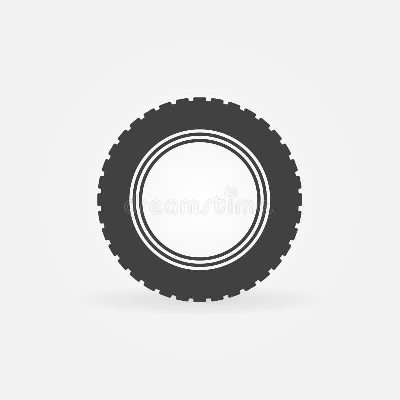 Dirigez l'élément d'icône ou de conception de pneu de route de voiture illustration de vecteur