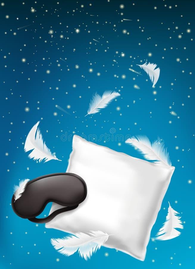 Dirigez l'affiche pour le sommeil confortable, rêver doux illustration libre de droits