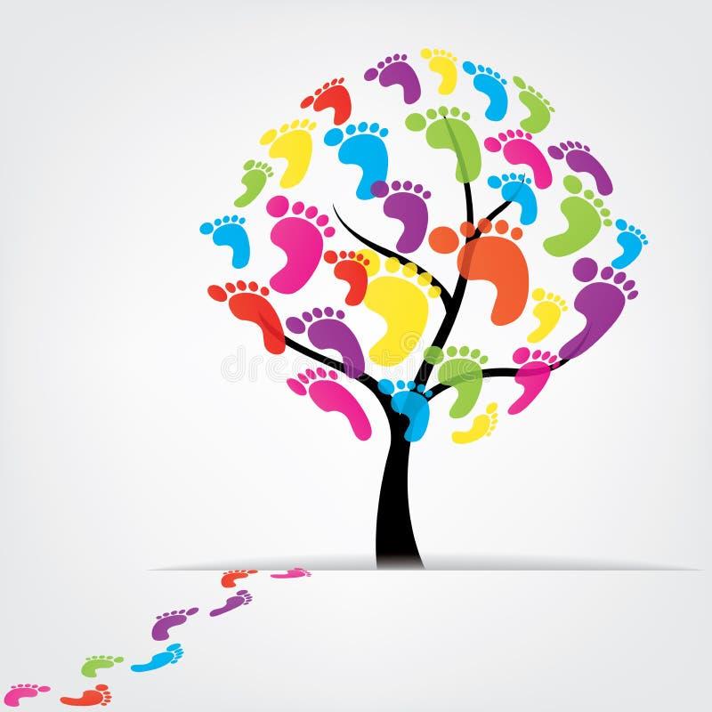 Dirigez l'arbre, pied, patte, copie illustration de vecteur