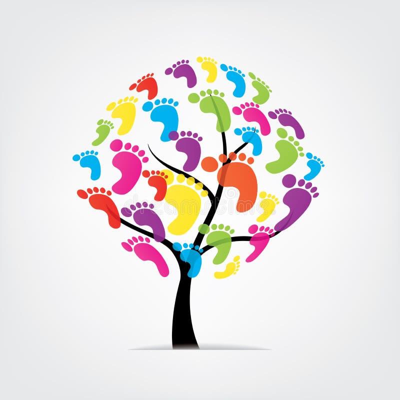 Dirigez l'arbre, pied, patte, copie illustration stock