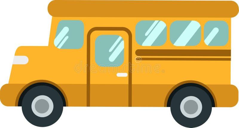 Dirigez l'autobus scolaire ou le shuttleon le Blackground blanc illustration stock
