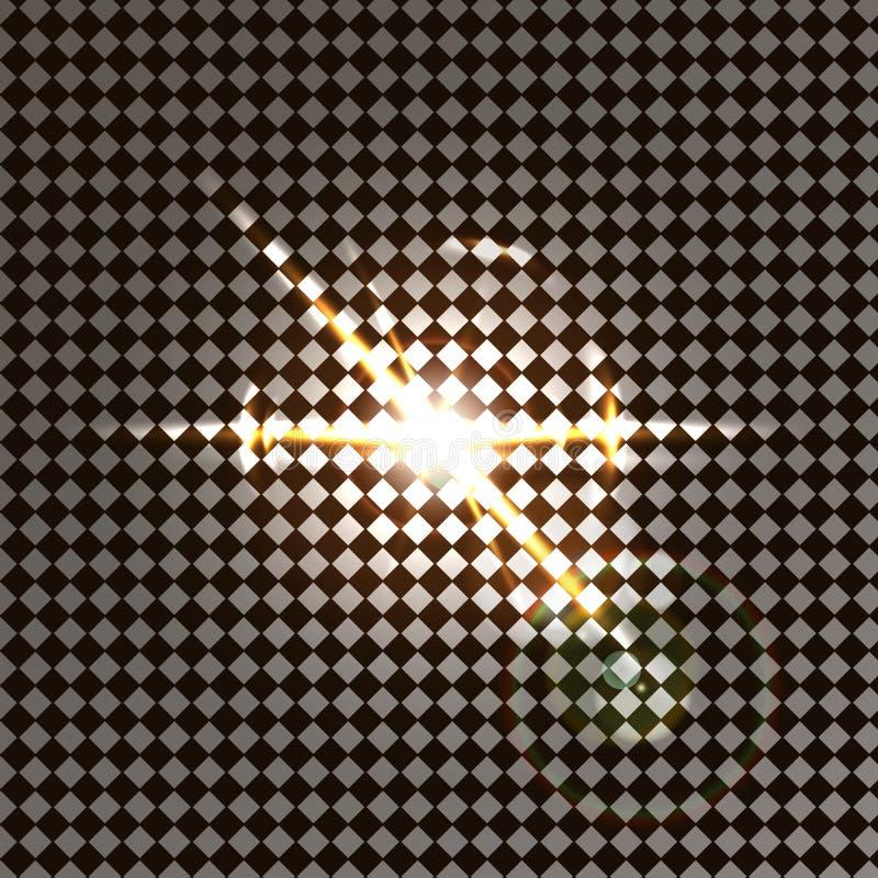 Dirigez l'effet de la lumi?re de lumi?re du soleil d'instantan? sp?cial transparent de lentille ?clair avant de lentille du solei illustration stock