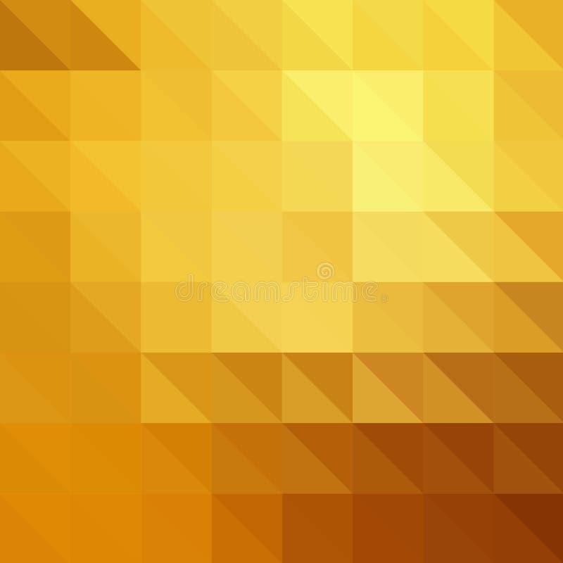 Dirigez l'effet en métal de l'or EPS10 avec les particules rougeoyantes brouillées Fond abstrait avec le gradient iridescent de m illustration libre de droits