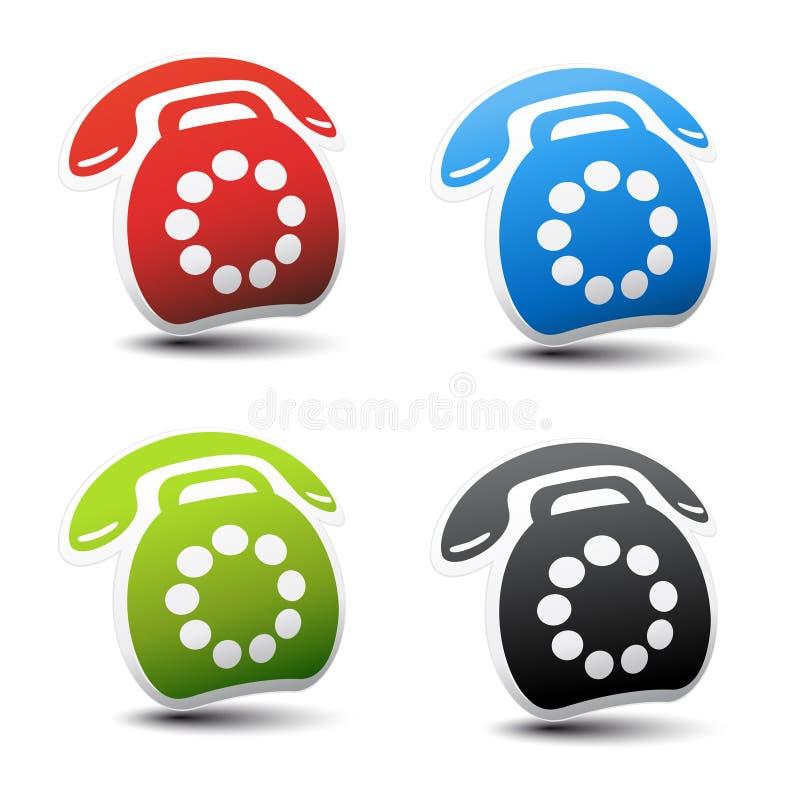 dirigez l'ensemble de téléphone de couleur illustration de vecteur