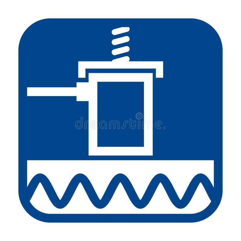 Dirigez l'icône plate de conception de l'essai d'émission acoustique illustration de vecteur