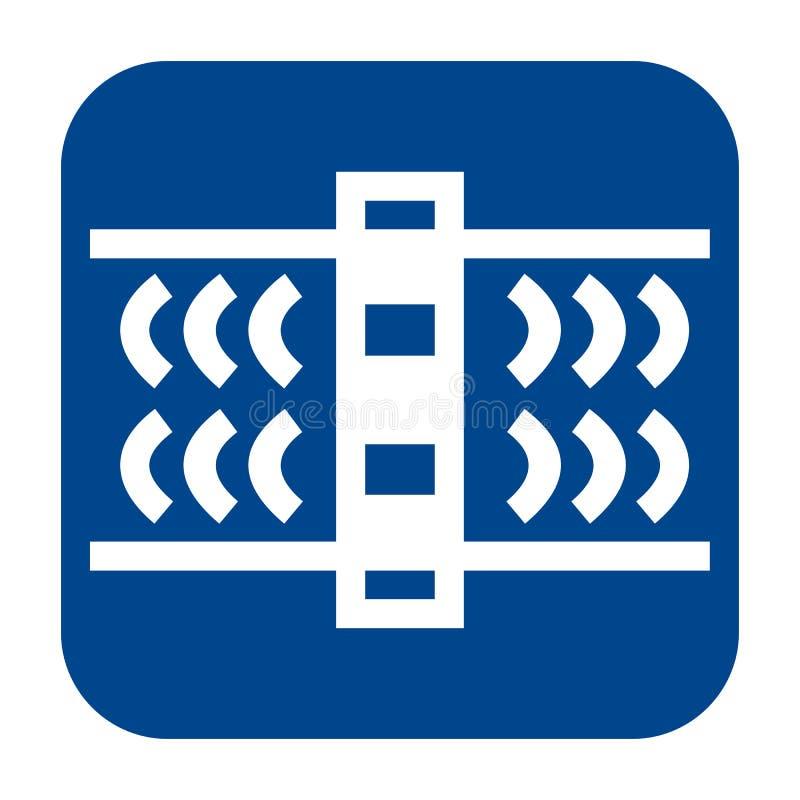 Dirigez l'icône plate de conception de l'essai de vague guidée illustration libre de droits
