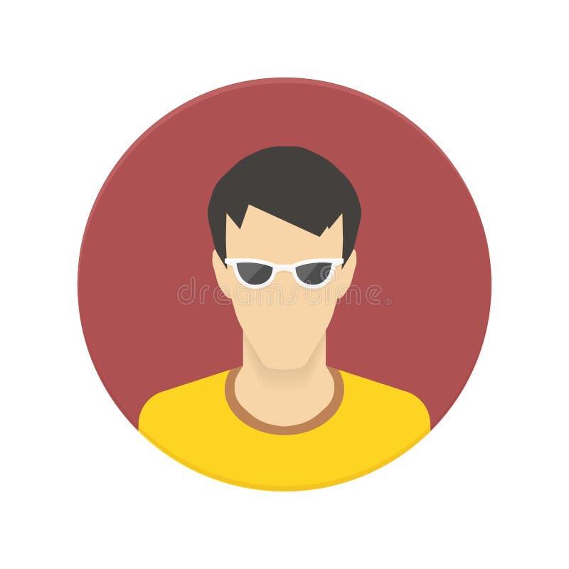 Dirigez l'icône de l'avatar d'utilisateur pour le site Web ou le mobile illustration de vecteur
