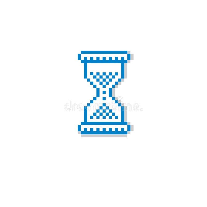 Dirigez l'icône de pixel d'isolement, élément du graphique 8bit Hou simpliste illustration de vecteur