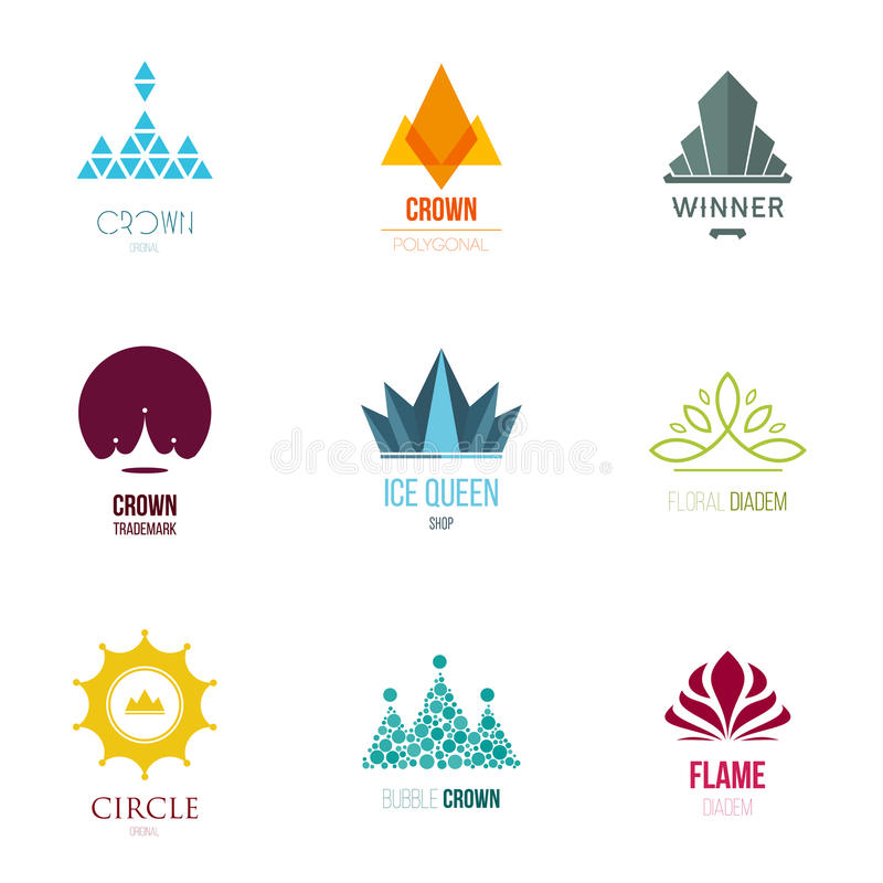 Dirigez l'illustration, éléments graphiques editable pour la conception avec la couronne illustration stock