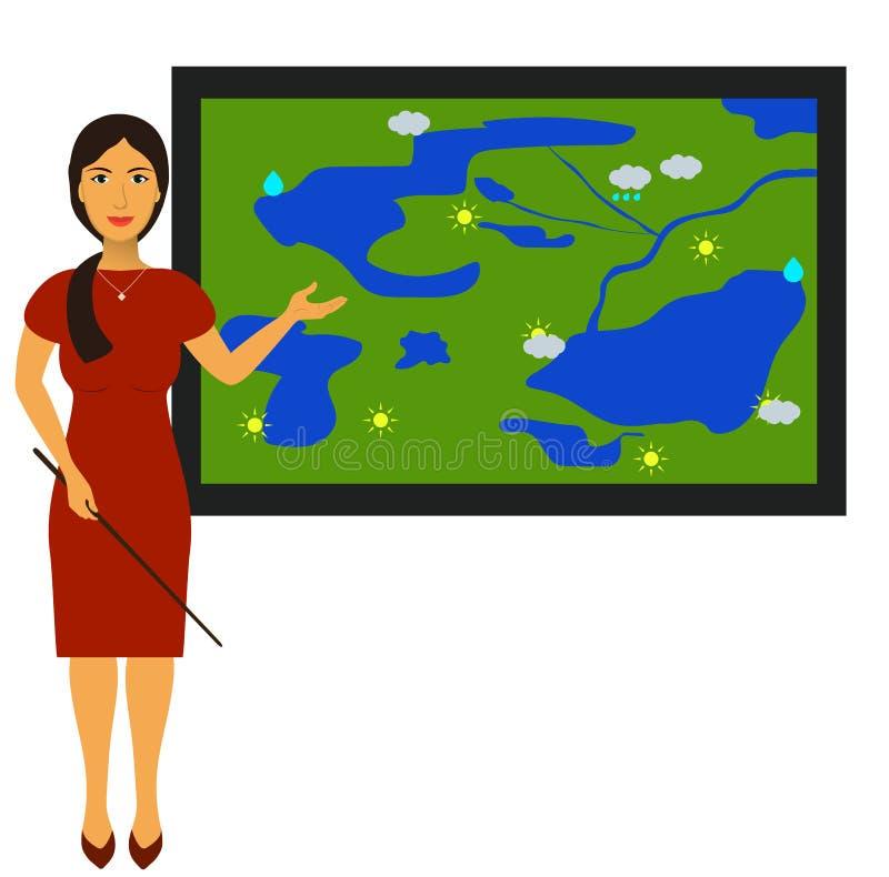 Download Dirigez L'illustration Avec L'image D'un Journaliste De Temps De TV Au Travail Illustration de Vecteur - Illustration du climate, neige: 77157486
