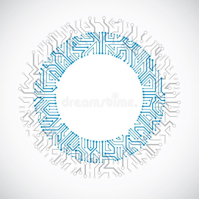 Dirigez l'illustration colorée abstraite de technologie avec le bleu rond illustration stock