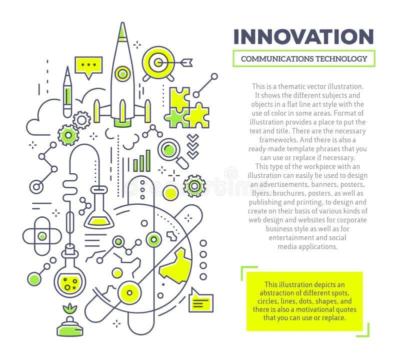 Dirigez l'illustration créative de concept de l'innovation avec l'en-tête a illustration de vecteur
