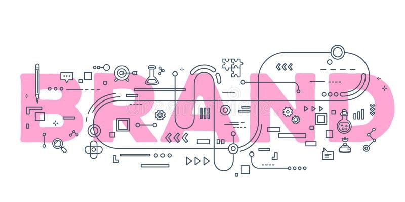 Dirigez l'illustration créative de la typographie de lettrage de mot de marque illustration libre de droits