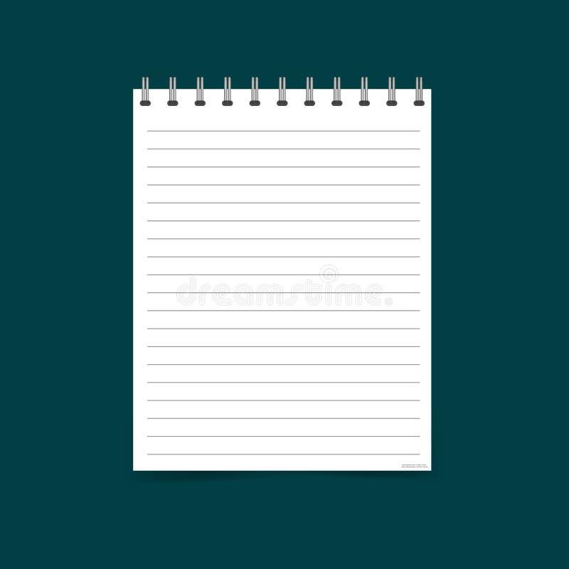 Dirigez l'illustration d'un livre d'exercice ouvert réaliste avec un sil illustration libre de droits