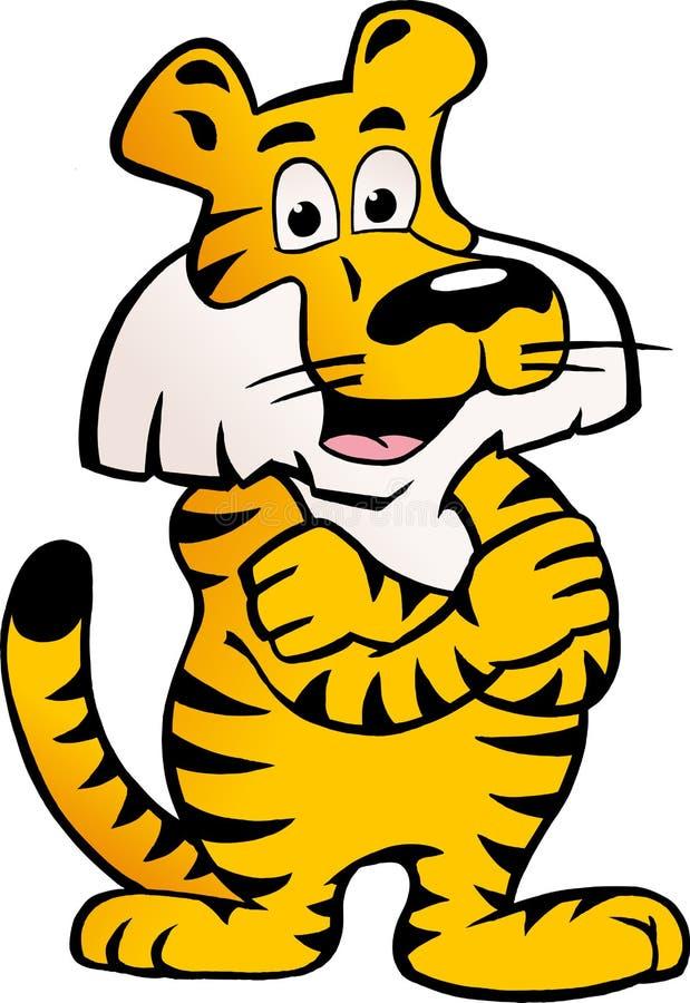 Dirigez L Illustration D Un Tigre Sibérien Heureux Et Fier Image stock