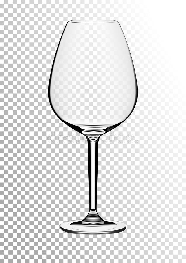 Dirigez l'illustration d'un verre de vin de Bordeaux dans le style photorealistic Un objet réaliste sur un fond transparent 3d illustration stock