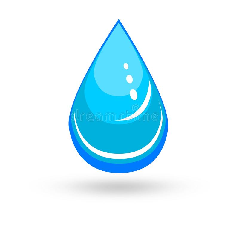 Dirigez l'illustration d'une baisse brillante bleue simple de l'eau illustration libre de droits