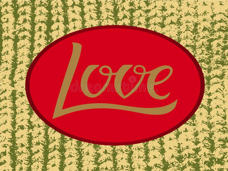 Dirigez l'illustration de l'amour pour le logotype, insecte, bannière, carte de voeux photo stock