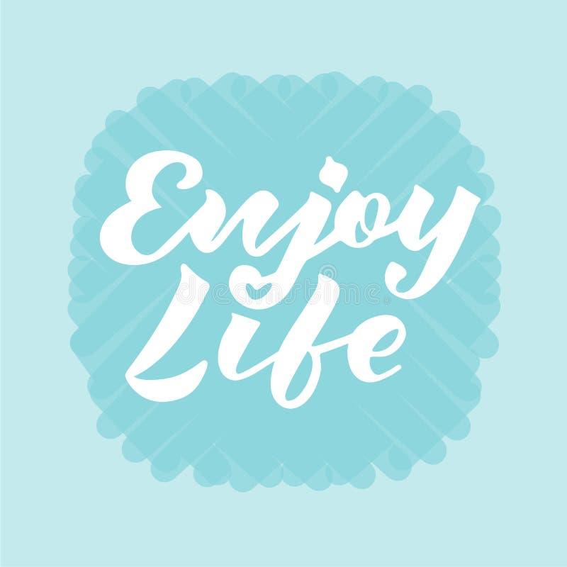 Dirigez l'illustration de apprécient le texte de la vie pour le logotype, insecte, bannière, carte de voeux illustration stock