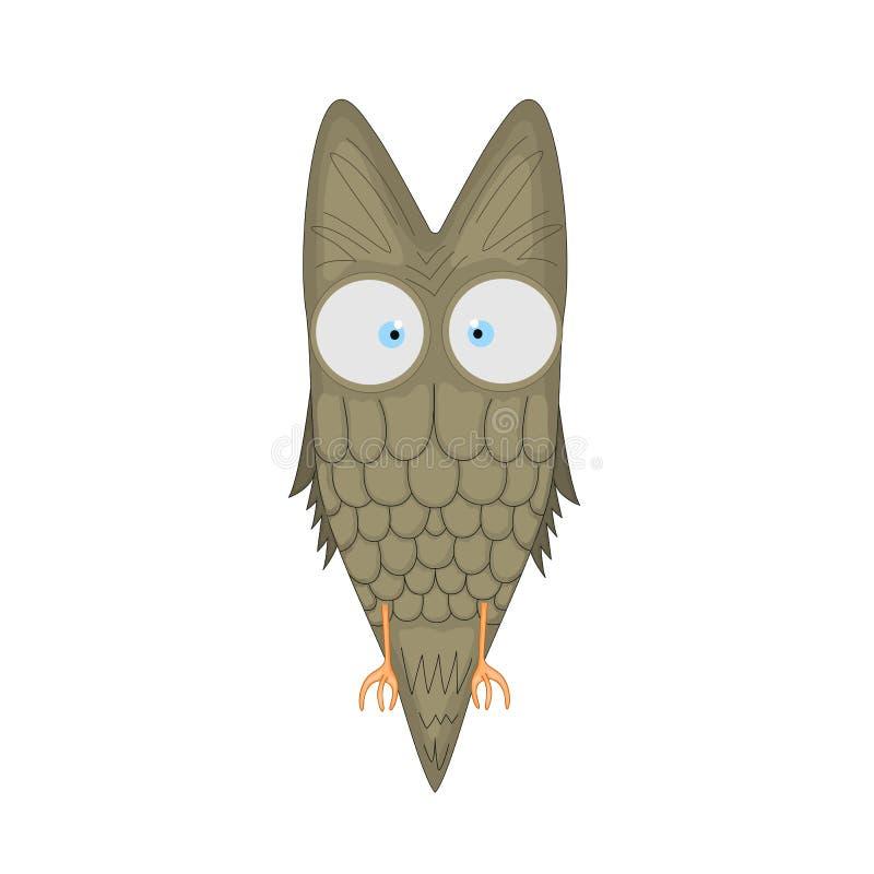 Dirigez l'illustration de clipart (images graphiques) de bande dessinée d'une mascotte mignonne de hibou D'isolement sur le fond  illustration stock