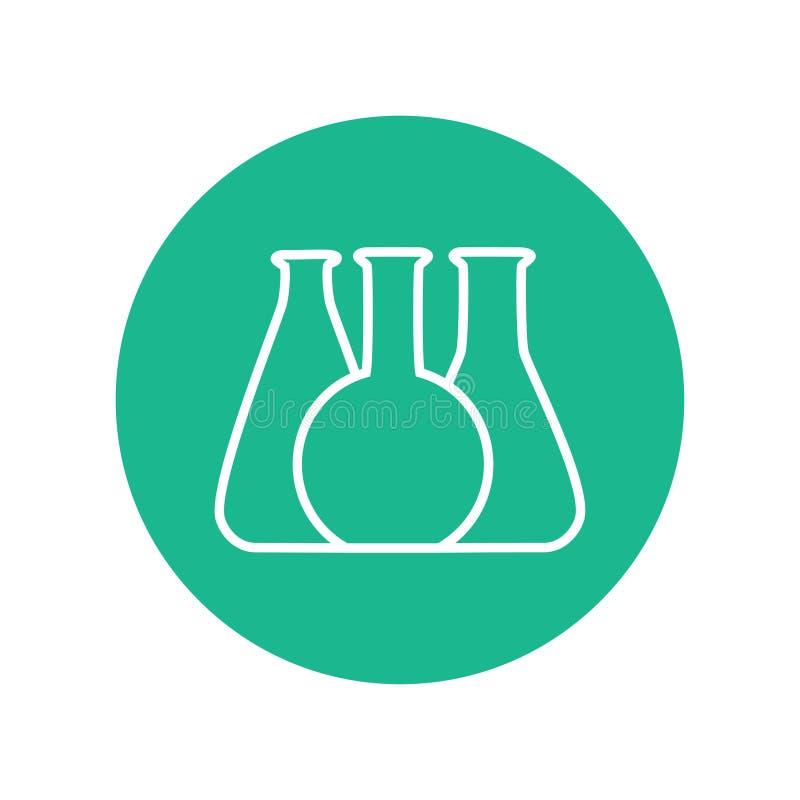 Dirigez l'illustration de l'icône chimique de tube d'essai en laboratoire illustration stock