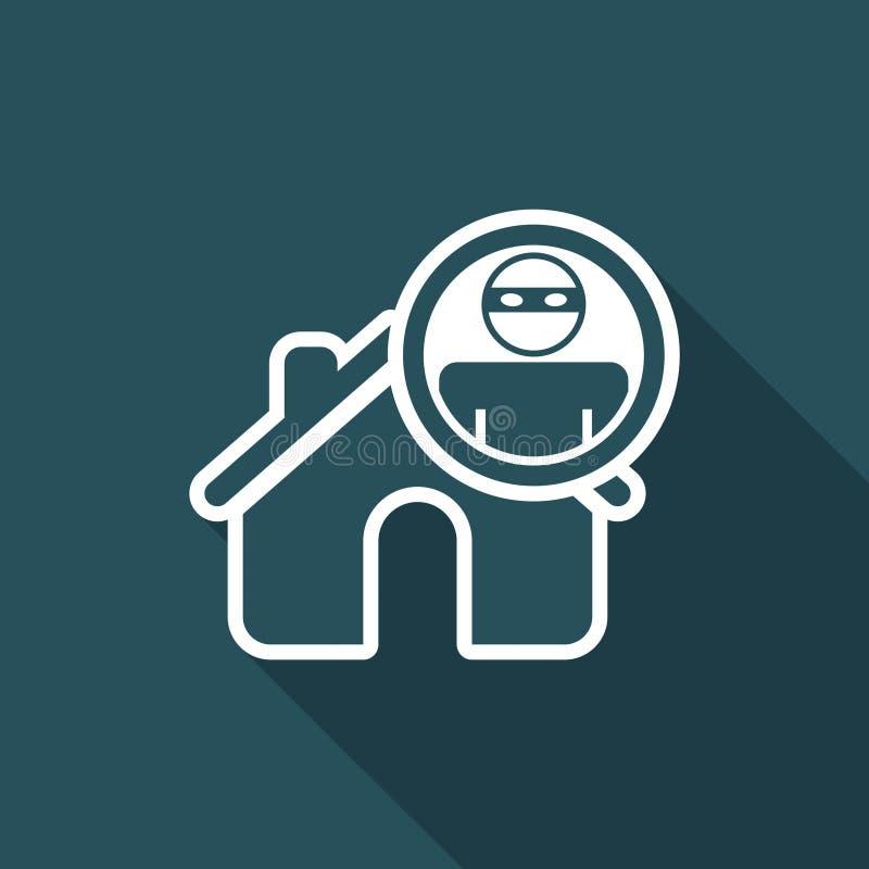 Dirigez l'illustration de l'icône d'isolement simple de voleur de maison illustration de vecteur