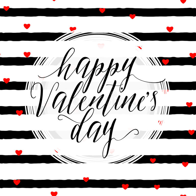 Dirigez l'illustration de la carte de voeux élégante de jour de valentines illustration de vecteur