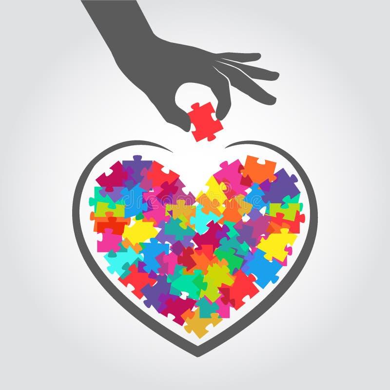 Dirigez l'illustration de la charité, collecteur de fonds, donations Aide au dans le besoin teamwork offrir illustration stock