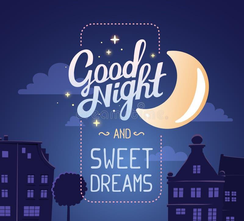 Dirigez l'illustration de la silhouette de la rue de ville de nuit illustration libre de droits