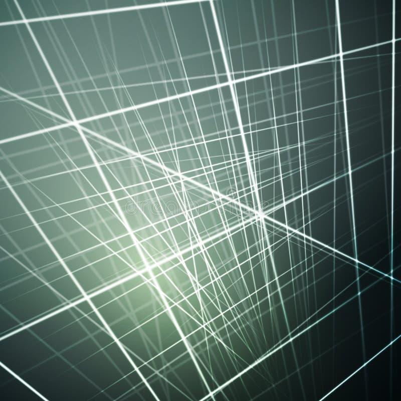 Dirigez l'illustration des lignes rougeoyantes, fond futuriste abstrait pour différentes illustrations de conception illustration de vecteur