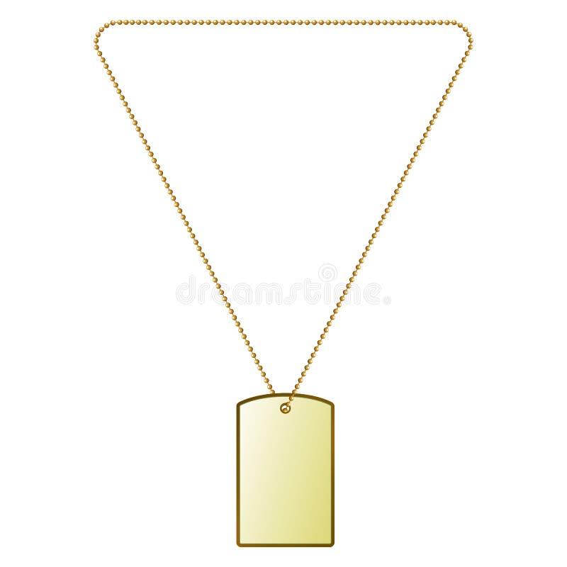 Dirigez l'illustration des tuiles d'or sur la chaîne illustration stock