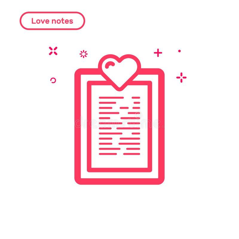 Dirigez l'illustration du concept d'amour de recherche dans la ligne style audacieuse plate illustration libre de droits
