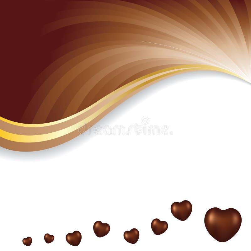 Dirigez l'illustration du fond foncé brun mou d'abrégé sur chocolat photo libre de droits