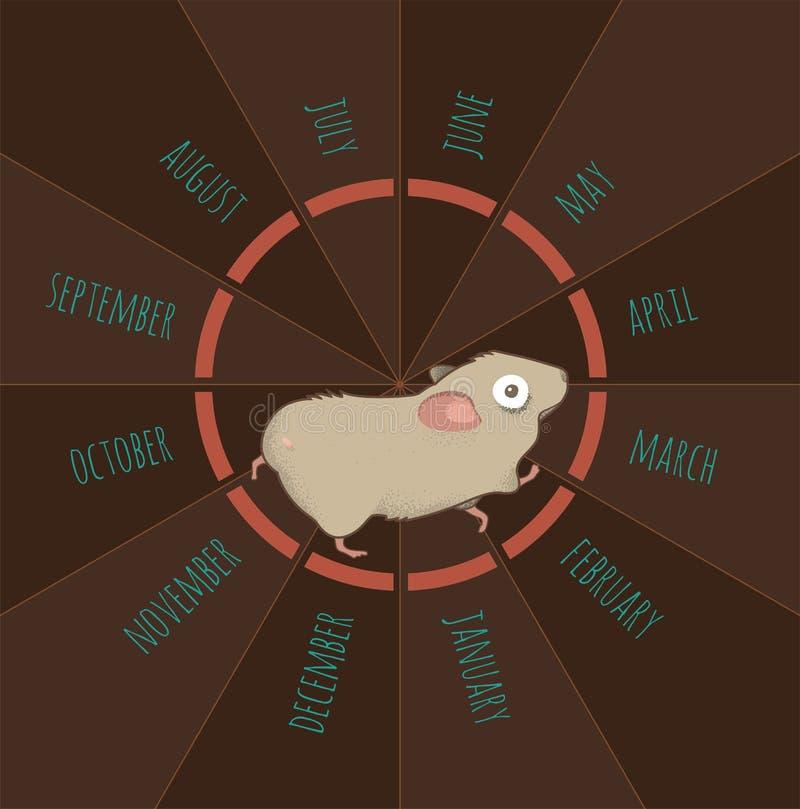 Hamster courant illustration de vecteur