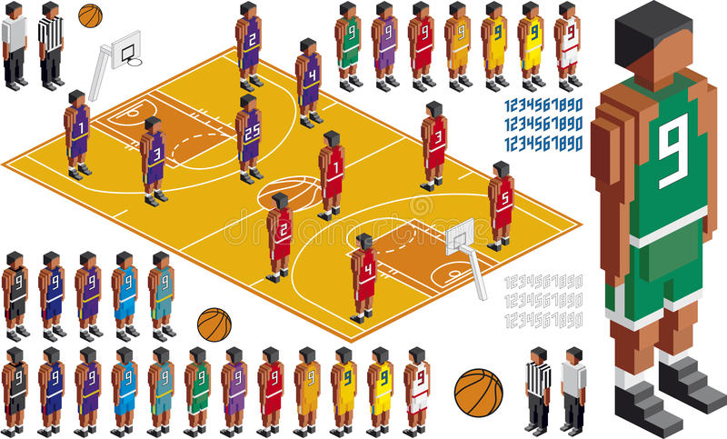 Coupe-circuit tactique de kit de basket-ball illustration stock