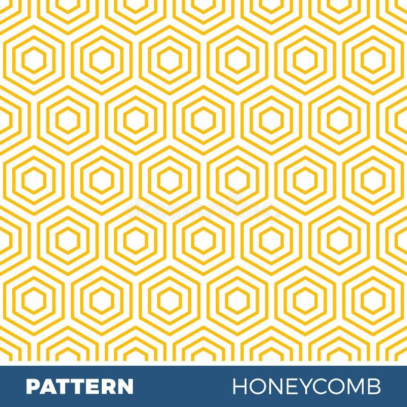Dirigez l'illustration du modèle géométrique sans couture avec des nids d'abeilles illustration stock