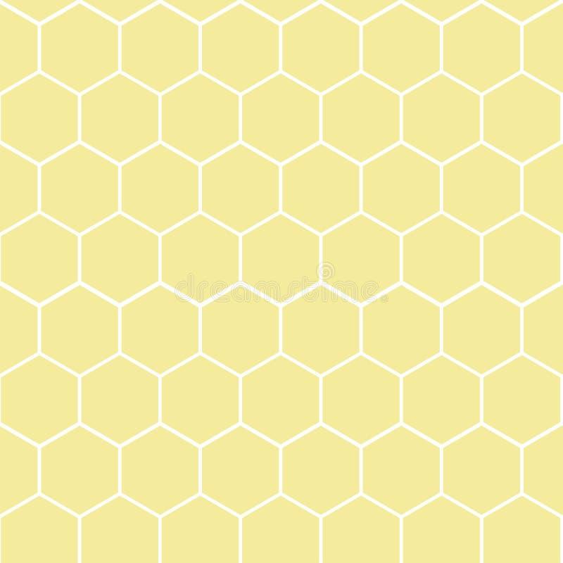 Dirigez l'illustration du modèle géométrique sans couture avec des nids d'abeilles illustration libre de droits