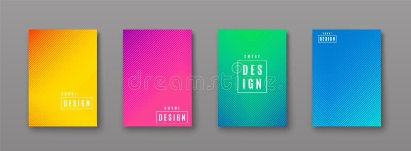 Dirigez l'illustration du modèle lumineux d'abrégé sur couleur avec la ligne texture de gradient illustration stock