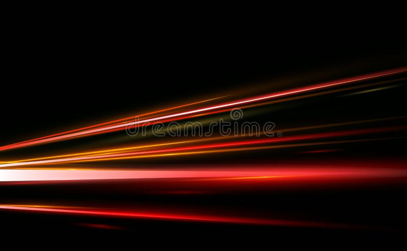Dirigez l'illustration du résumé, la science, futuriste, concept de technologie énergétique Image des lignes avec la lumière, vit illustration de vecteur