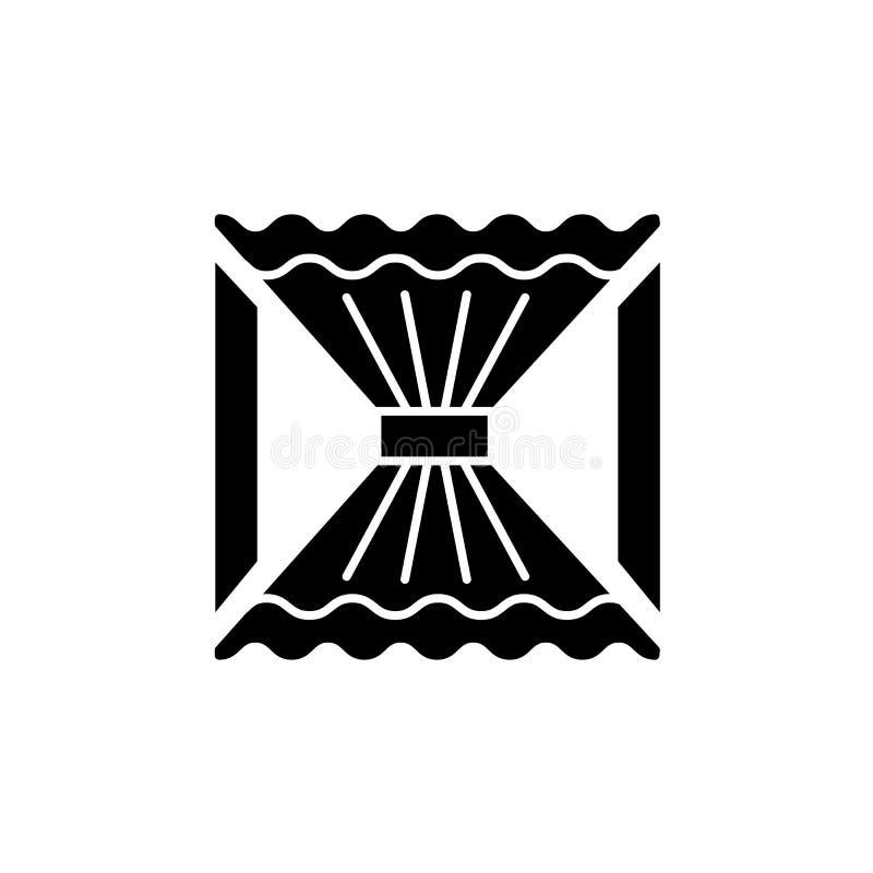 Dirigez l'illustration du rideau en tissu avec la draperie centrale fla illustration libre de droits