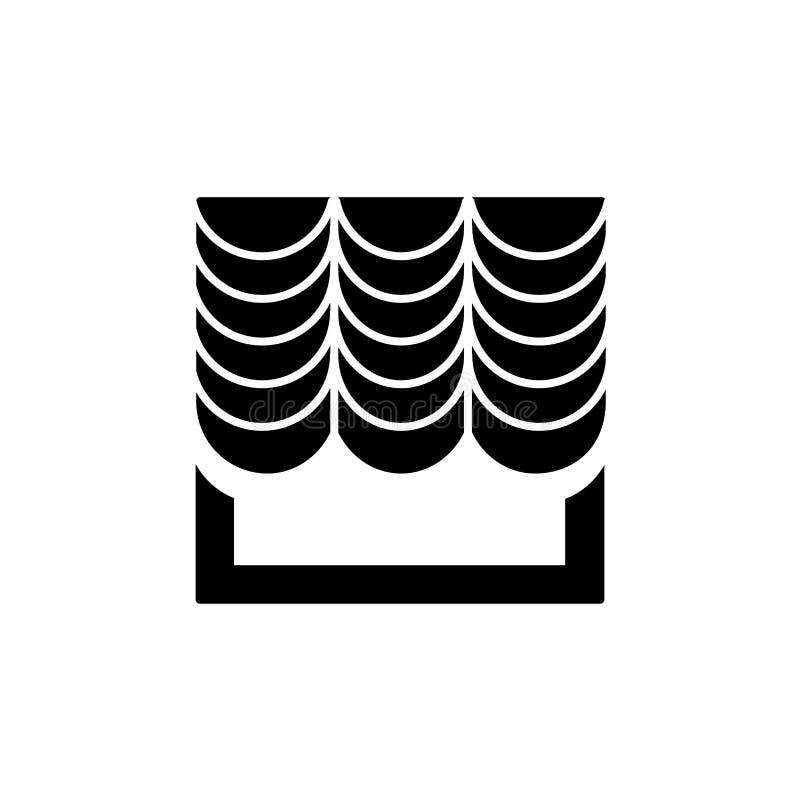 Dirigez l'illustration du rideau français en tissu avec la draperie plat illustration de vecteur