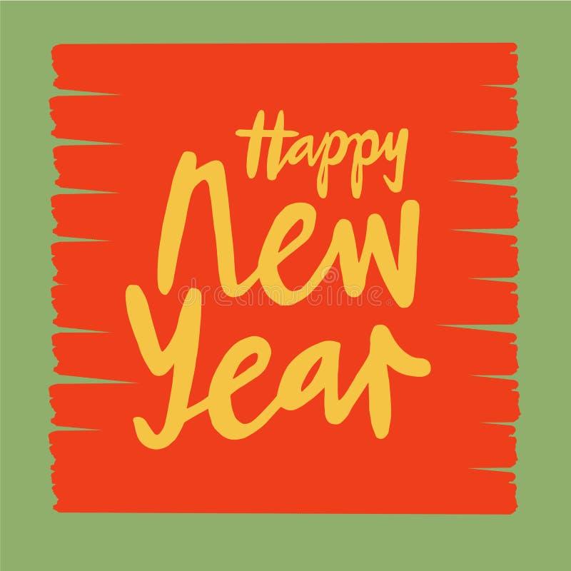 Dirigez l'illustration du texte de nouvelle année pour l'affiche de typographie, le calendrier, la carte de voeux ou la carte pos photo stock