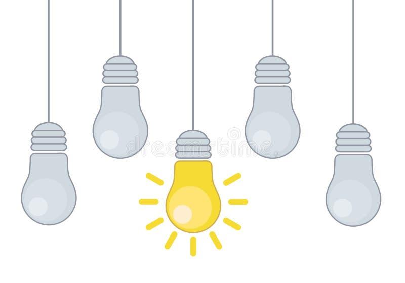 Dirigez l'illustration grunge avec accrocher les ampoules et placez les FO illustration de vecteur