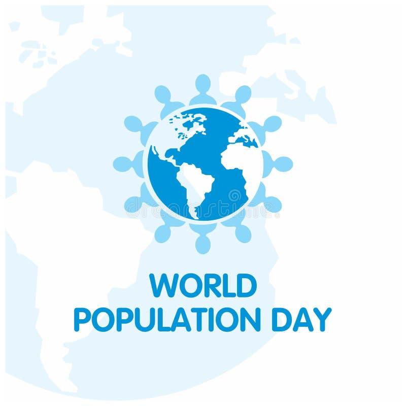 Dirigez l'illustration, la bannière ou l'affiche du jour de population mondiale pe illustration libre de droits