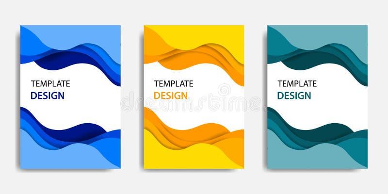 Dirigez l'illustration, moquerie de document vers le haut de calibre, ajustement facile de couleur Style topographique de coupe d illustration stock