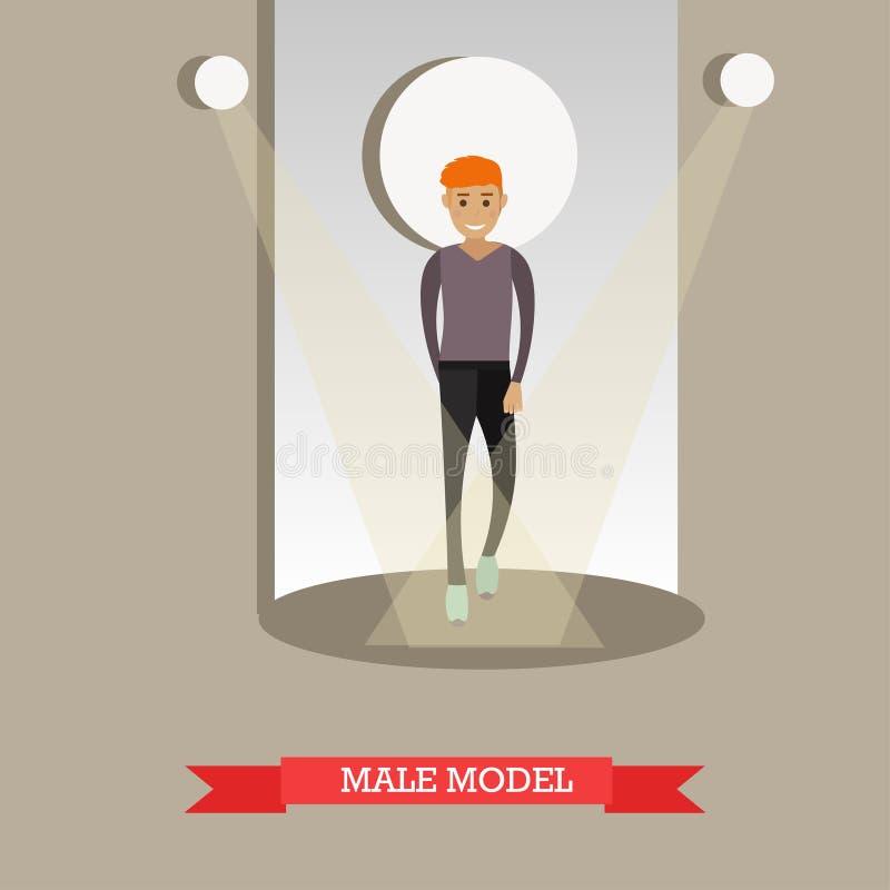 Dirigez l'illustration plate du modèle masculin dans des vêtements sport illustration libre de droits