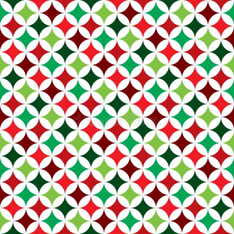 Dirigez l'illustration sans couture de modèle sur un thème de vacances de Noël sur le fond blanc illustration stock